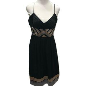 Eliza J Size 12 Cocktail Dress Black Midi Elegant